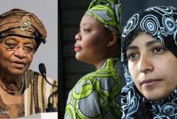 Tre donne Nobel per la Pace 2011
