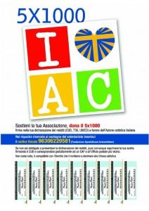 5x1000 dell'IRPEF per il sostegno alle attività dell'A.C.