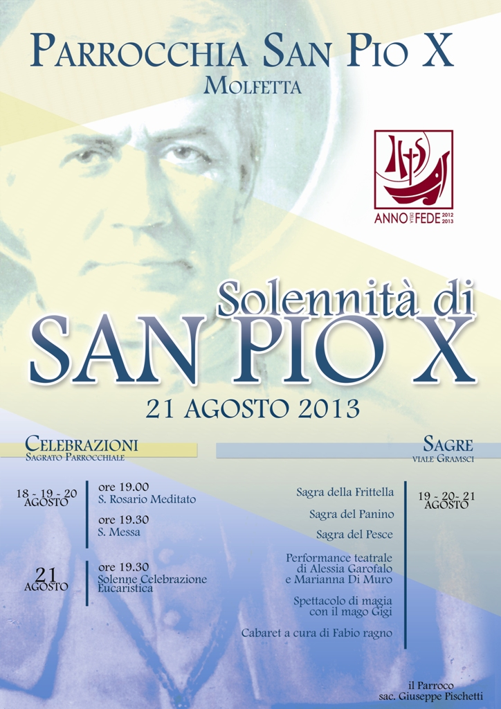 Solennità di San Pio X