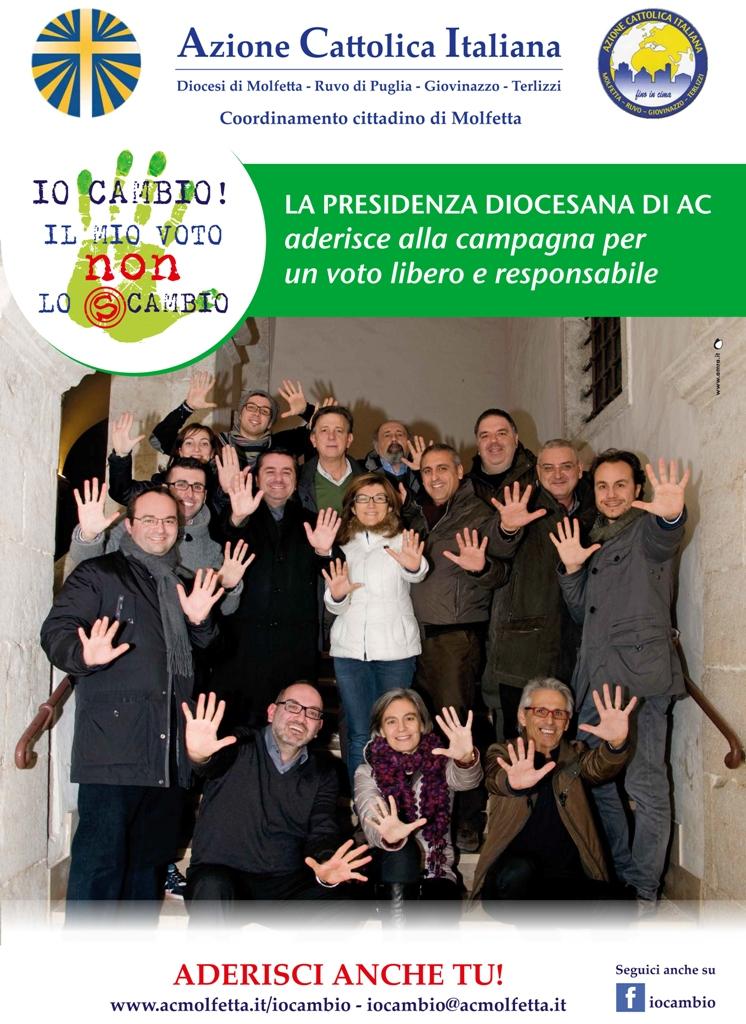 La presidenza diocesana di AC promuove la campagna Io cambio! Il mio voto non lo scambio