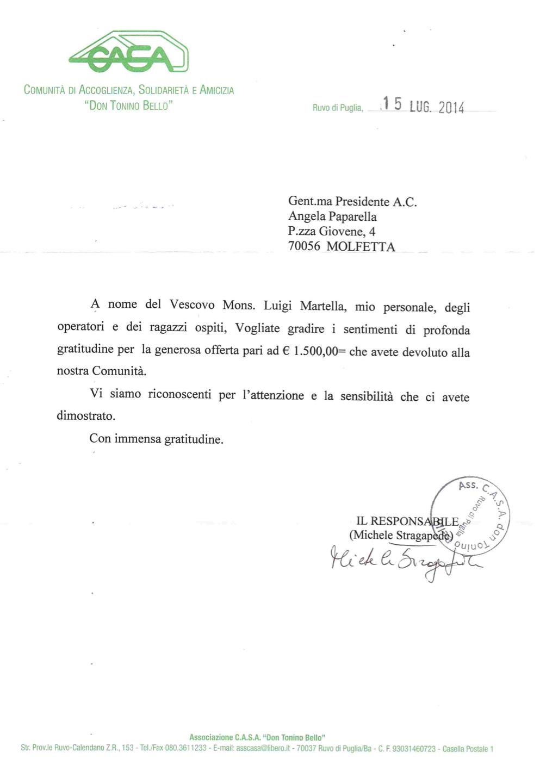 lettera CASA
