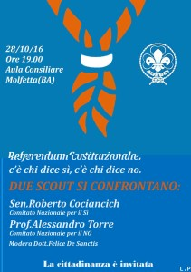 Due scout si confrontano: Referendum c'è chi dice si e c'è chi dice no