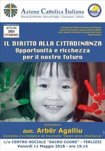 Il diritto alla cittadinanza: opportunità e ricchezza per il nostro futuro @ Centro Sociale Sacro Cuore - Terlizzi | Terlizzi | Puglia | Italia