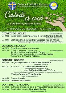 Camposcuola diocesano 2020 - programma